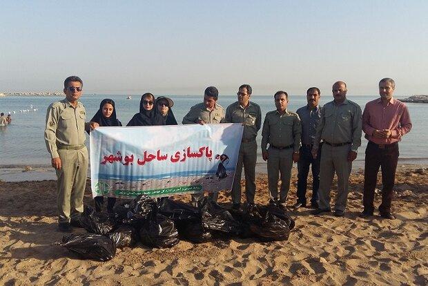 ساحل بندر بوشهر پاکسازی شد