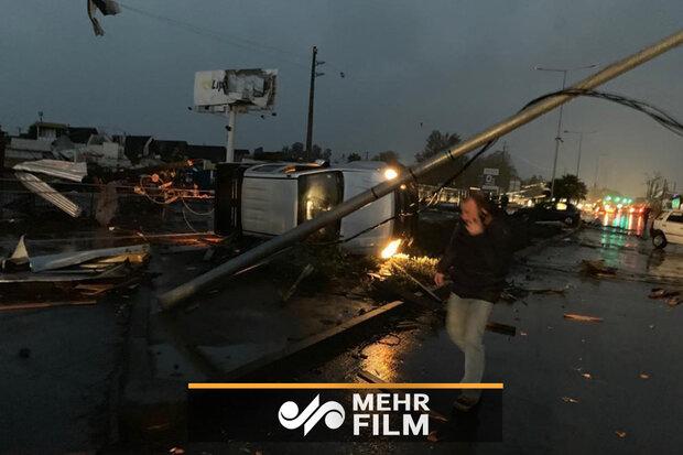 چلی میں حالیہ طوفان کا خوفناک منظر