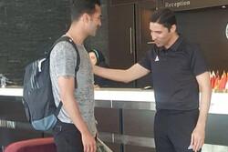ورود بازیکنان تیم ملی فوتبال به اردو