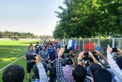 تمرین تیم ملی فوتبال ایران با مارک ویلموتس استارت خورد