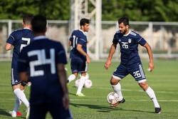تساوی تیم ملی فوتبال بزرگسالان برابر امیدهای ایران