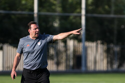 Team Melli's first training session under Marc Wilmots