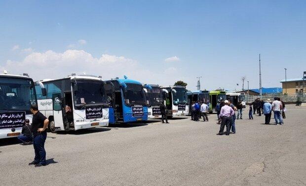 اعزام رایگان زائران ورامینی با ۹۱ دستگاه اتوبوس به حرم امام(ره)