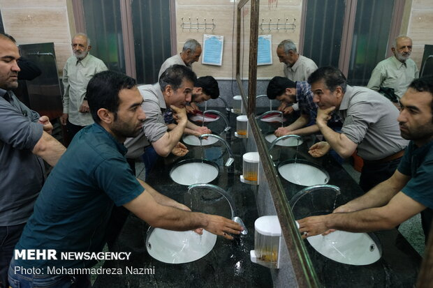 Simple iftar meal at mosques across the country
