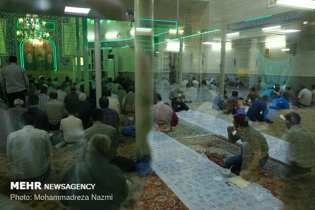 İran'daki iftar merasiminden kareler