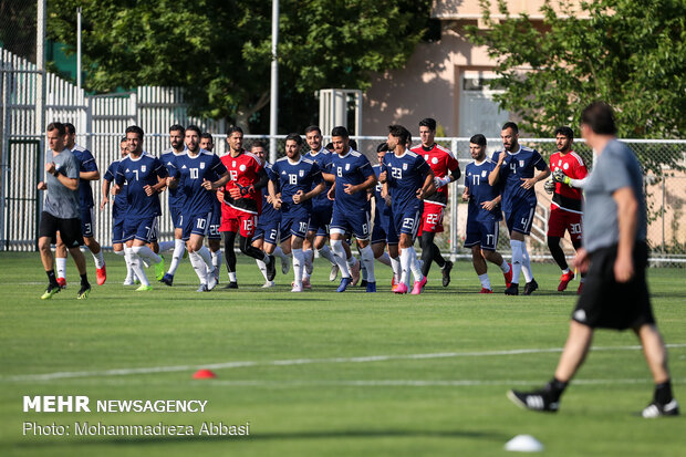 Team Melli's first training session with Marc Wilmots