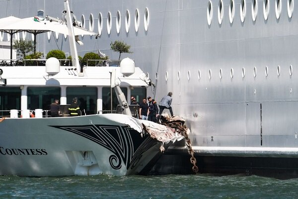 VIDEO: Massive Cruise ship crashes into dock in Venice