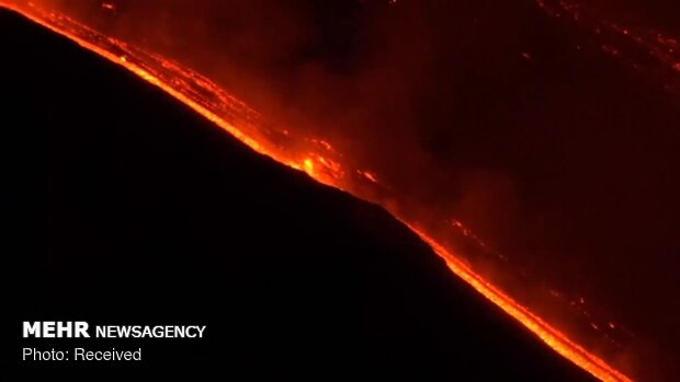 Molten Lava of Mount Etna
