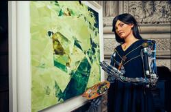 نمایشگاه آثار هنری یک ربات انسان نما برگزار می شود