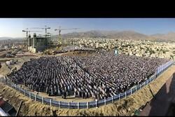 تسطیح و رگلاژ تپه مصلی همدان برای برپایی نماز عید فطر
