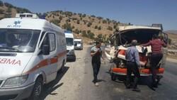 تصادف در محور کرمانشاه به اسلام آبادغرب ۱۳ مصدوم بر جا گذاشت