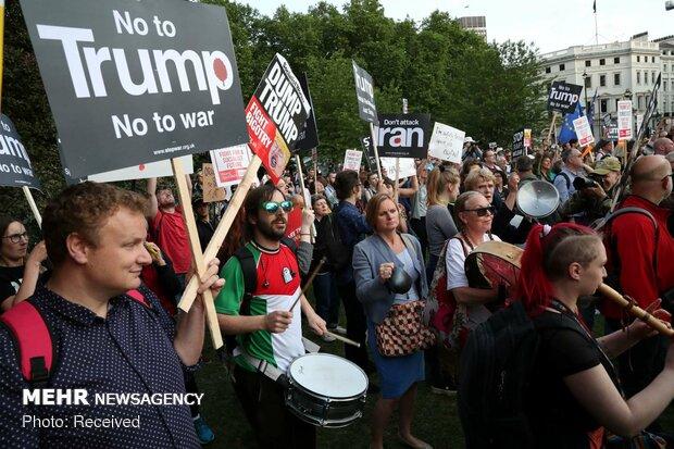 اعتراض به سفر ترامپ به انگلیس
