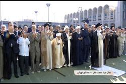 اقامة صلاة عيد الفطر بإمامة قائد الثورة الإسلامية