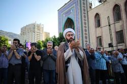 اقامه نماز عید فطر در مسجد النبی (ص) ولنجک