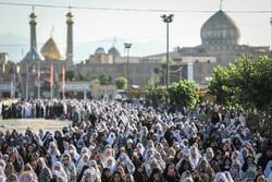 شاہ عبدالعظیم میں نماز عید سعید فطرکی ادائیگی