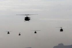۵۰مرحله پرواز توسط بالگردهای نیروهای مسلح
