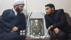 دیدار رئیس سازمان تبلیغات اسلامی با خانواده شهید حجت الاسلام خرسند