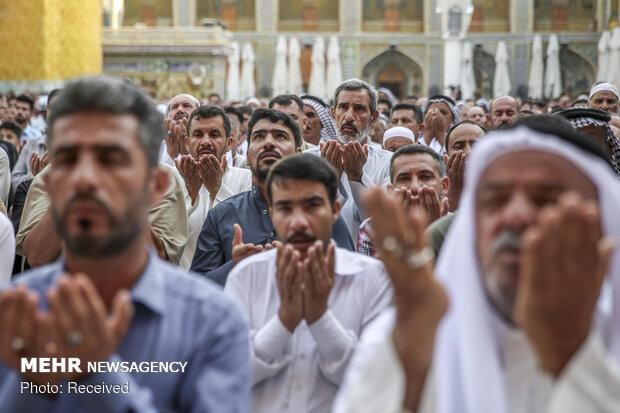 اقامه نماز عید سعید فطر در حرم علوی