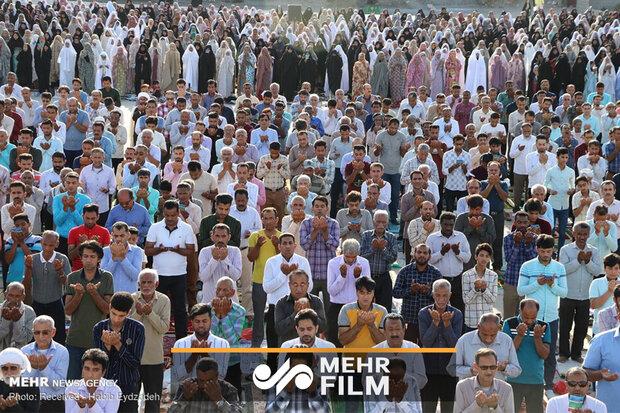 فیلمی از نماز عید فطر در میناب