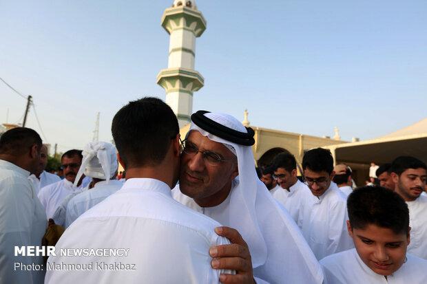 مراسم دید و بازدید مردم کیش در روز عید فطر