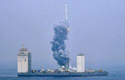چین از روی دریا ماهواره به فضا فرستاد