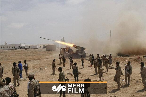 یمنی فورسز کا سعودی عرب کے فوجی قافلہ پر حملہ