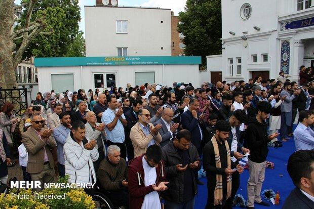 نماز عید سعید فطر در مرکز اسلامی انگلیس در لندن