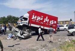 تصادف در محور تبریز- آذرشهر