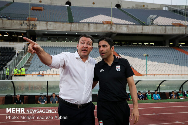 Iran, Syria friendly football match in Tehran