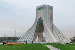 A view of Azadi Tower