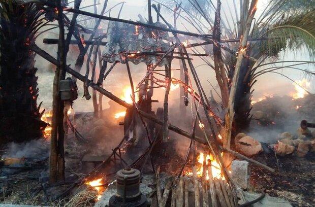 بیش از ۱۰ مورد آتش سوزی در شهرستان میناب رخ داد