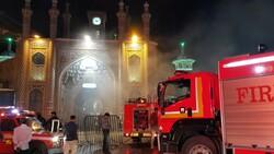 مشاهد عن عمليات اطفاء الحريق في حرم السيدة معصومة (س) / صور