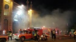 Kum kentindeki kutsal türbede çıkan yangın söndürüldü