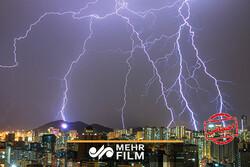 VIDEO: Lightning strike in Tehran caught on video