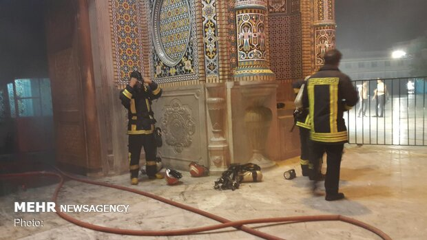 Fire contained in courtyard of Hazrat Masoumeh (SA) shrine in Qom