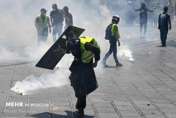جلیقه زردهای فرانسه در سی و پنجمین هفته متوالی به خیابانها آمدند