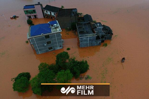 فیلمی از طوفان هولناک اخیر چین