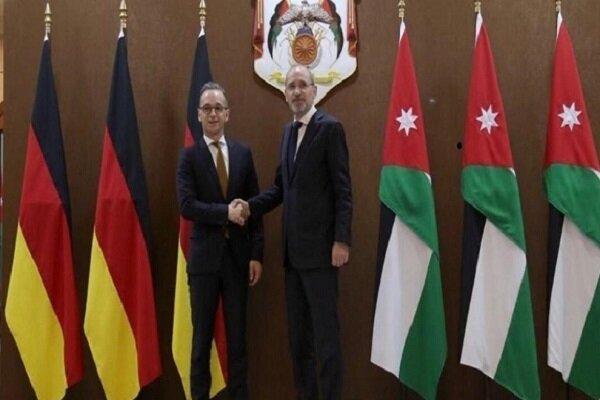 رایزنی وزرای خارجه اردن و آلمان درباره تحولات منطقه