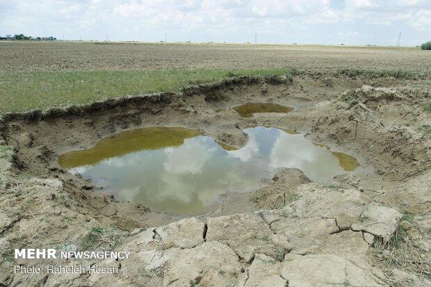 خرابی های  زمین بر اثر سیل و زیر آب ماندن
