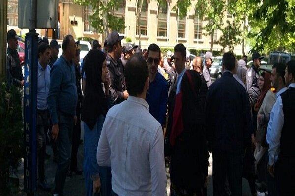 """وقفة احتجاجية لأهالي """"باكو"""" ضد السفارة الصهيونية"""