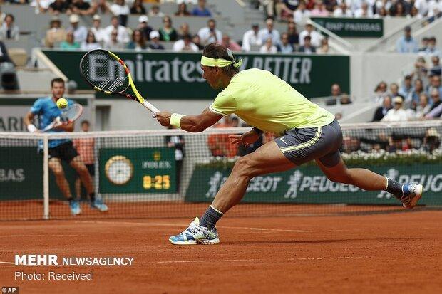 قهرمانی نادال در مسابقات تنیس