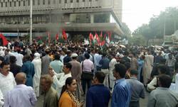 پاکستان کے سابق صدر کی گرفتاری کے بعد مظاہرے شروع ہوگئے
