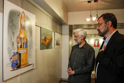 افتتاح نمایشگاه کاریکاتور «آسوده باش، من ملکهام»
