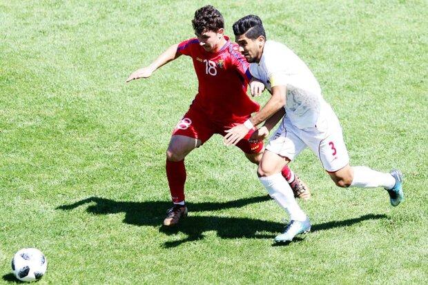 پیروزی تیم فوتبال جوانان ایران مقابل افغانستان