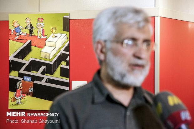 افتتاح نمایشگاه کارتون و کاریکاتور «آسوده باش، من ملکه ام»