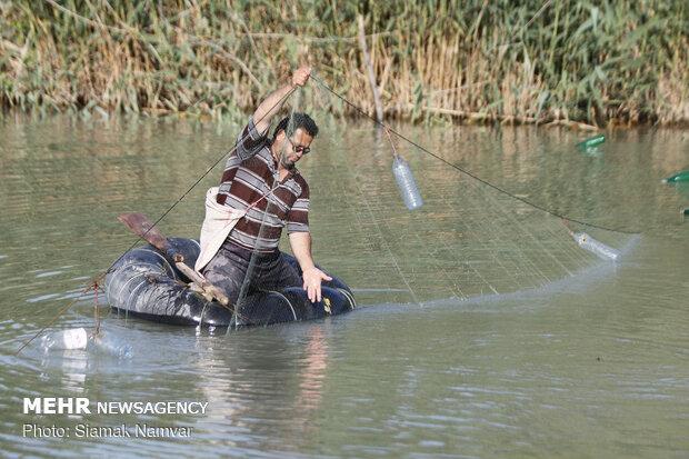 صید ماهی در تعطیلات آخر هفته