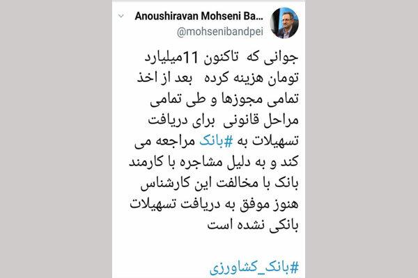 انتقاد توئیتری استاندار تهران به عدم پراخت وام های اشتغال