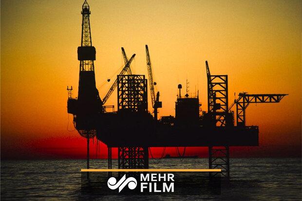 فیلمی منتسب به آتشسوزی سکوی نفتی ایران در خلیجفارس