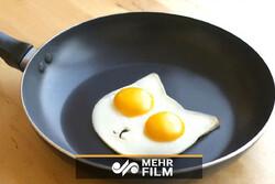 پختن تخممرخ زیر گرمای سوزان آفتاب در میناب