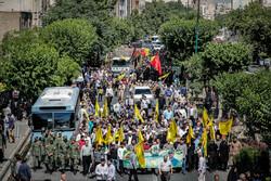 تشييع جثمان قائد لواء زينبيون محمد جنتي /صور